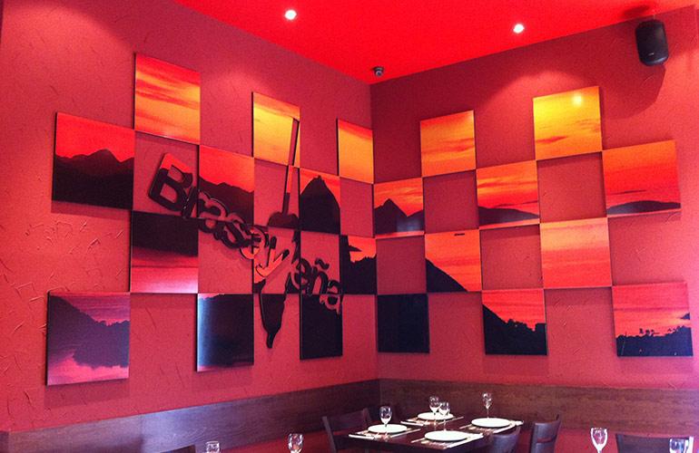 Impresión digital Brasa y Leña Restaurante