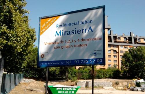 Vallas publicitarias en Madrid Mirasierra